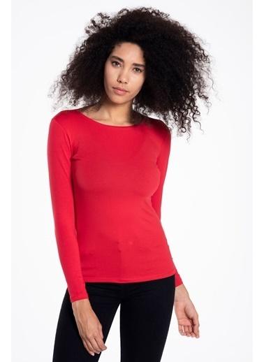Tiffany&Tomato Bisiklet Yaka Uzun Kollu T-Shirt Kırmızı